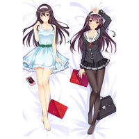 Quente japonês anime Abraça O travesseiro de corpo case capa Decorativa flores bênção menina Dupla face 50x160 CM