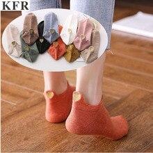 4 Pair/Lot 2019 Fashion Socks Woman Kawaii Embroidered Ankle Funny short Lady Girls Cotton harajuku art cute Heart socks