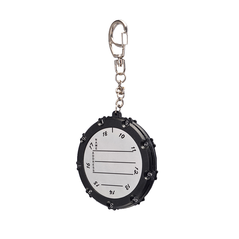 Black Silver/Golden Color 18 Holes Golf Score Counter Practical Outdoor Portable Putt Shot Cartoon Double Side With Key Chain