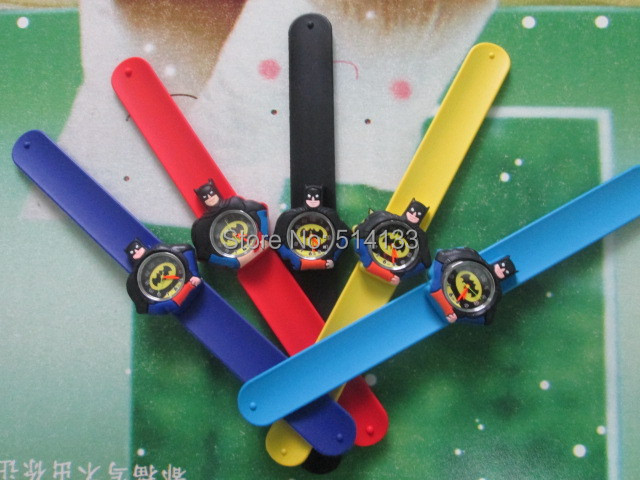 fashiong kids slap watches children cartoon slap silicone Batman watches for kids drop shipping 10pcs
