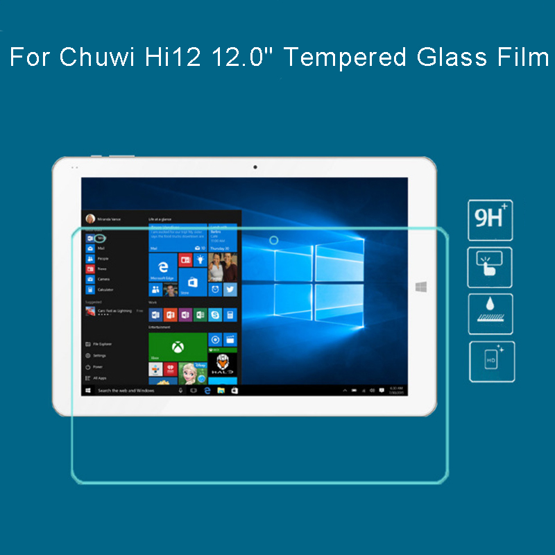 HD lcd tempered glass film For Chuwi Hi12 12.0 tablet pc Anti-shatter clear Screen Protector Protective Film + tracking number hd clear lcd screen guard shield film protector for 10 1 asus tf300 tablet pc 56506
