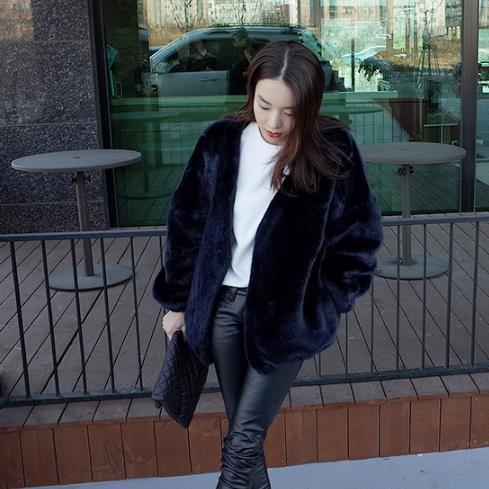 Artificielle De Clobee 2018 D'hiver Q988 Taille Manteau Fourrure Veste Faux Femme Outwear La Chaud Femmes Plus tww0yrAq