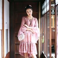 MX015 Original Design 2016 Exotic Hippie Style Overcoat Vintage Women Outwear Long Cloak Wool Coat Autumn