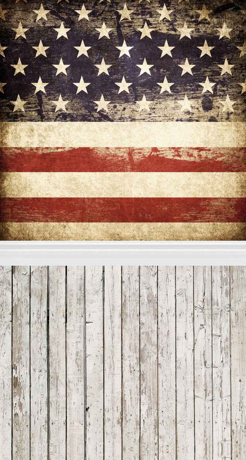 HUAYI American flag Photo Background Photo Booth Photography Art Fabric Backdrop D088