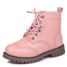 Новые Кожаные Ботинки martin для девочек; обувь для девочек; детские Нескользящие теплые ботинки; модные ботинки с мягкой подошвой для мальчиков и девочек; детские кроссовки