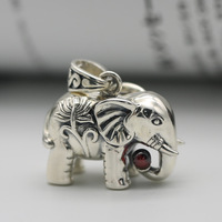 S925 retro Thai silver pendant male manufacturers wholesale elephant pendant female character joker sweater chain