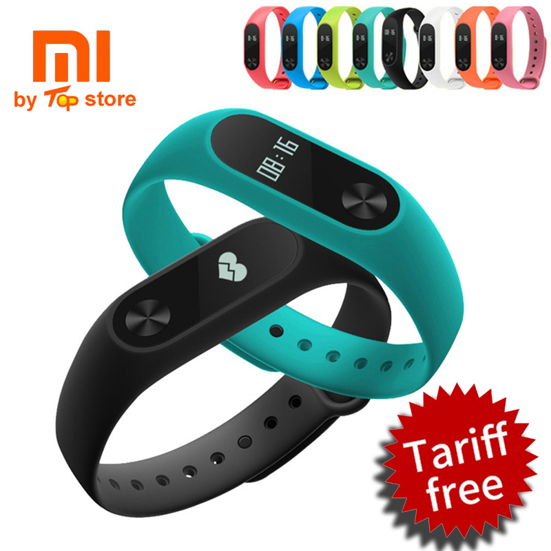 100% Original Xiaomi Xiomi Mi Smart Wristband Fitness Bracelet miband 2 mi band 2 for Xiaomi Mi6 sport tracker In stock original xiaomi mi band 2 wristband