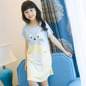 c9b29cac1d08c PUCKISH BABY Cotton Girls Dresses Children Nightgown Kids