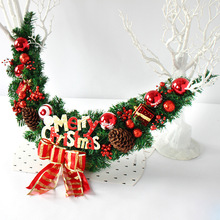 Christmas Ornaments Christmas Rattan Door Rattan Fruit Bows Ornaments Window Layout Festivals Gate Wreaths Christmas Gifts