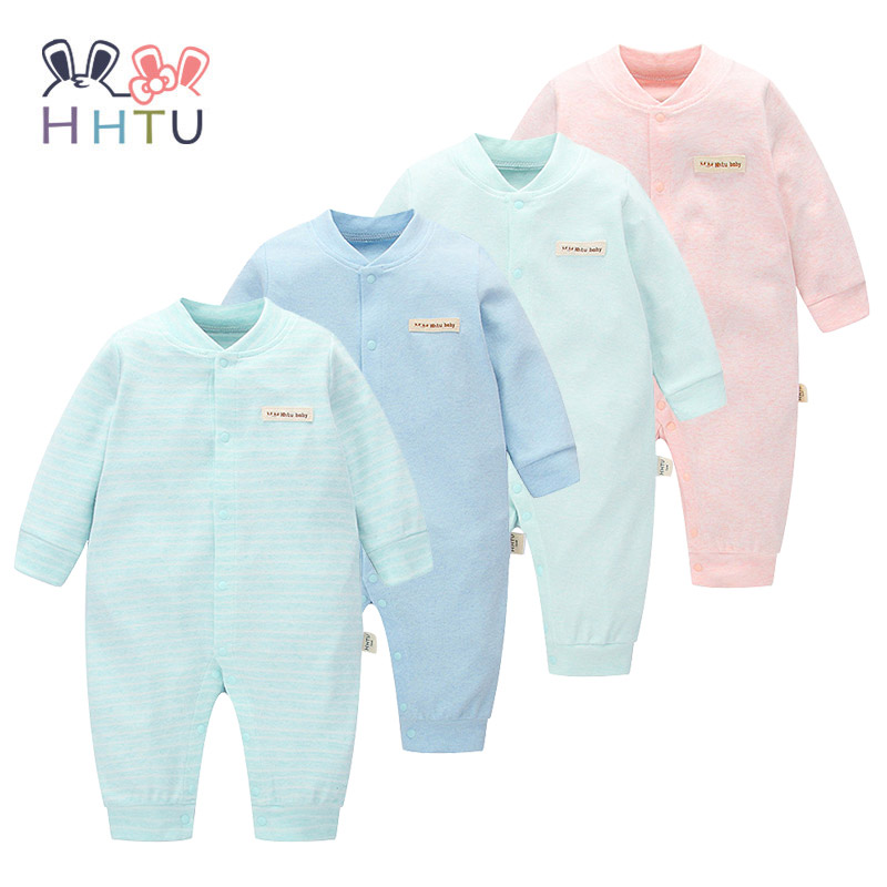 HHTU Brand Baby Rompers Boys Girls Clothing Quilted Long Sleeve Jumpsuits Newborn Clothes Boneless Sewing Children Cotton Winter baby clothes newborn boys and girls jumpsuits long sleeve 100%cotton solid turn down baby rompers infant baby clothing product