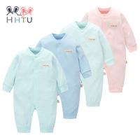 HHTU Brand Baby Rompers Boys Girls Clothing Quilted Long Sleeve Jumpsuits Newborn Clothes Boneless Sewing Children