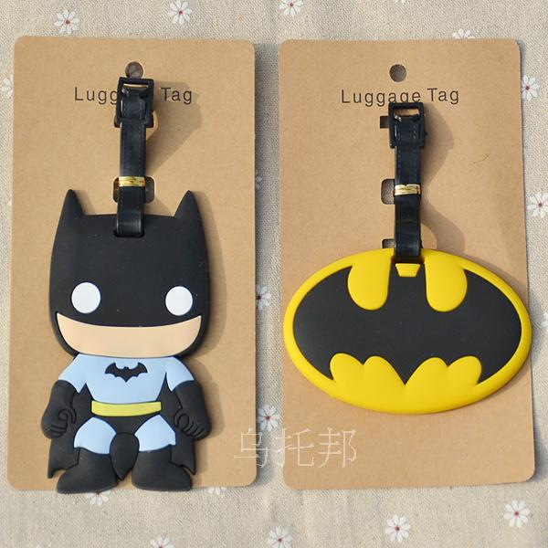 Batman Logo Anime Travel Accessories Luggage Tag Suitcase ID Address Portable Tags Holder Baggage Label Gifts New
