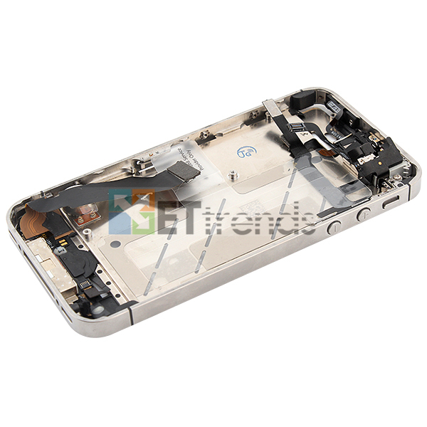 Metal Middle Plate Assembly for iPhone 4S - White  (7).jpg