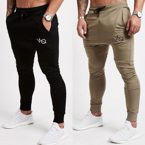 Mens Slim Fit Sports Gym Pants Jogging Running Trousers Tracksuit Sweatpants