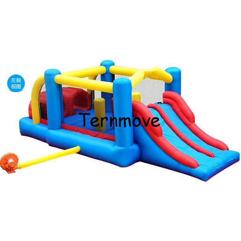 Home Use Inflatable Bouncers Indoor Outdoor Jumping House with Slide Kids Playing Castle inflatable kids amusement air bouncer super funny elephant shape inflatable games kids slide toy for outdoor