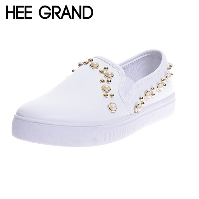 Rivets Mode pour femmes Plate-forme Chaussures Casual Mocassins VGE7XGE