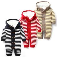 Winter Baby Clothing Plus Velvet Warm Baby Rompers Brand Baby Boys Clothes Newborn Baby Costume Infant