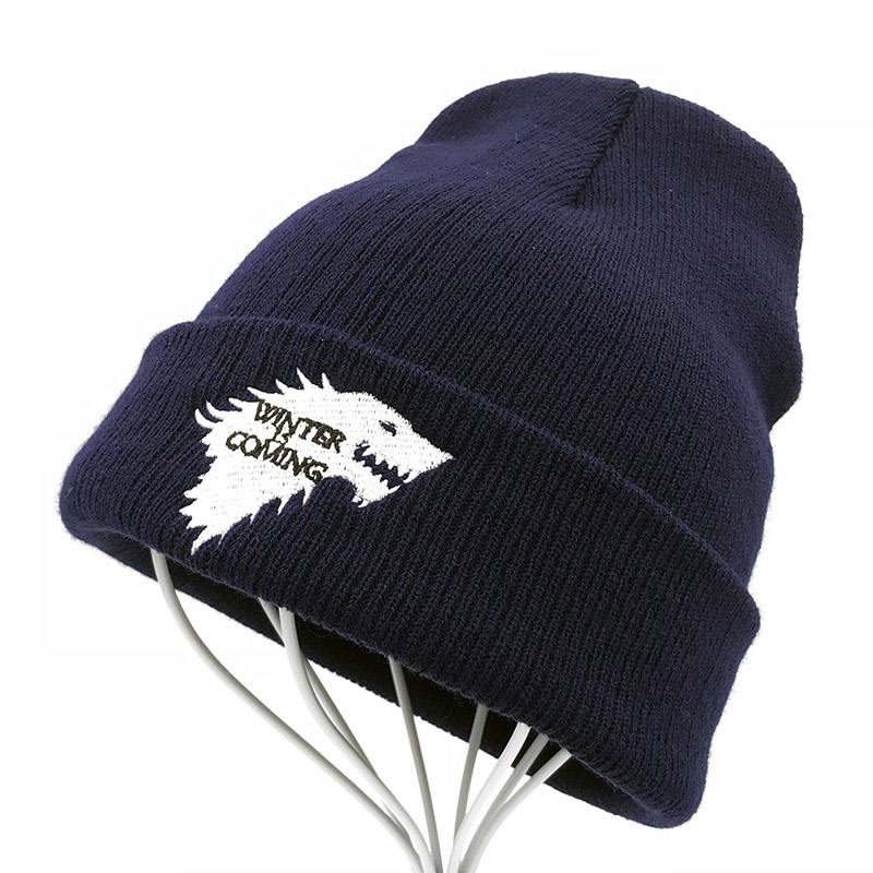 Game Of Thrones Warm Knitted   Beanie     Skullies   House Of Stark Winter is Coming Dire Wolf Hat For Adult Men Women Teenager