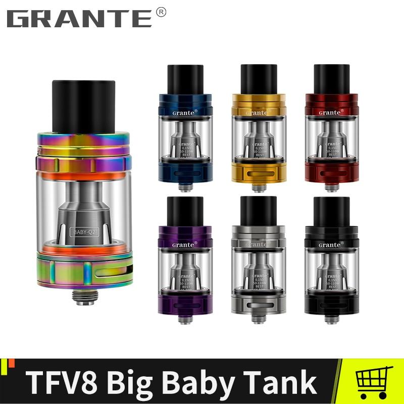 Grante TFV8 Big Baby Tank With 810 Drip Tip V8 Baby M2 Dual Coil Vape Coil TFV8 Big Baby Atomizer Vaporizer For SMOK Stick V8