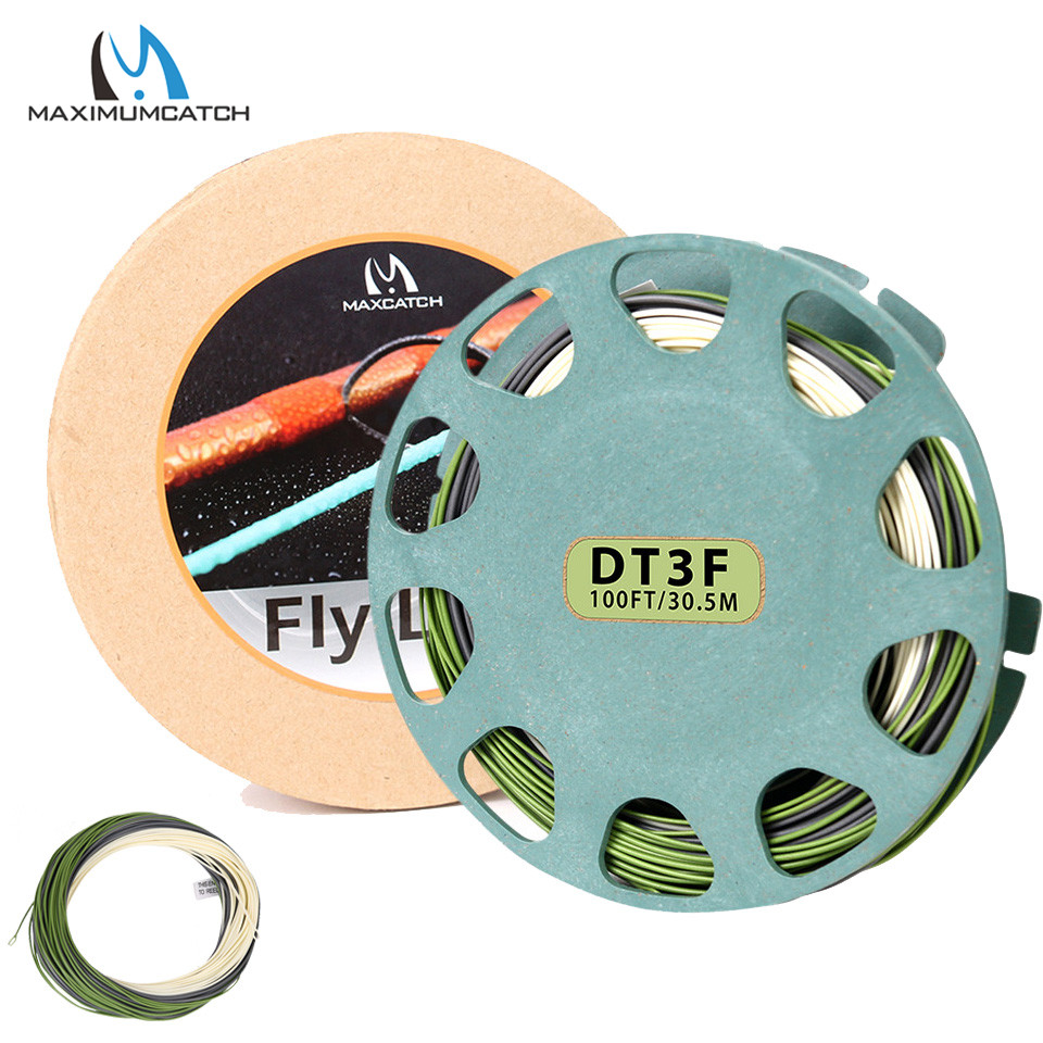все цены на Maximumcatch 90ft 3/4/5/6wt Real Troutlite Double Taper Floating Fly Fishing Line with 2 Welded Loops Fly Line