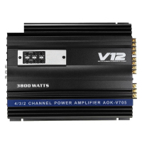 3800 Watts 4 Channel Car Amplifier V12 Audio High Power Car Amplifiers High Power Amp 4Ohm