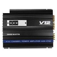 3800 Watts 4 Channel Car Amplifier V12 Audio High Power Car Amplifiers High Power Amp 4Ohm