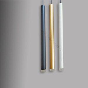 Image 2 - LED תליון מנורת dimmable תליית אורות מטבח אי אוכל חדר חנות בר דלפק קישוט צילינדר צינור מטבח אורות