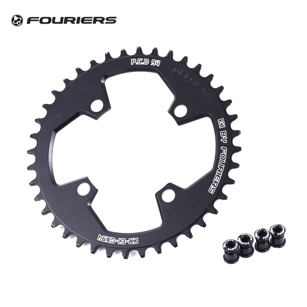 Fouriers Single Chainring 94mm BCD Narrow Wide Teeth Chainwheel 32t 34t 36t 38t 40T For GXP GX X1 NX Mountain Bike Chain wheel fouriers cross chainring system a7075 alloy cross country road bike chain ring chainwheel road bikes parts pcd 110mm 38t 40t 42t