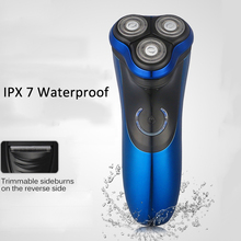 Mens Electric Shavers Washable 3D Triple Floating Blade Heads Trimmer Shaving Machine Waterproof Razors Face Care