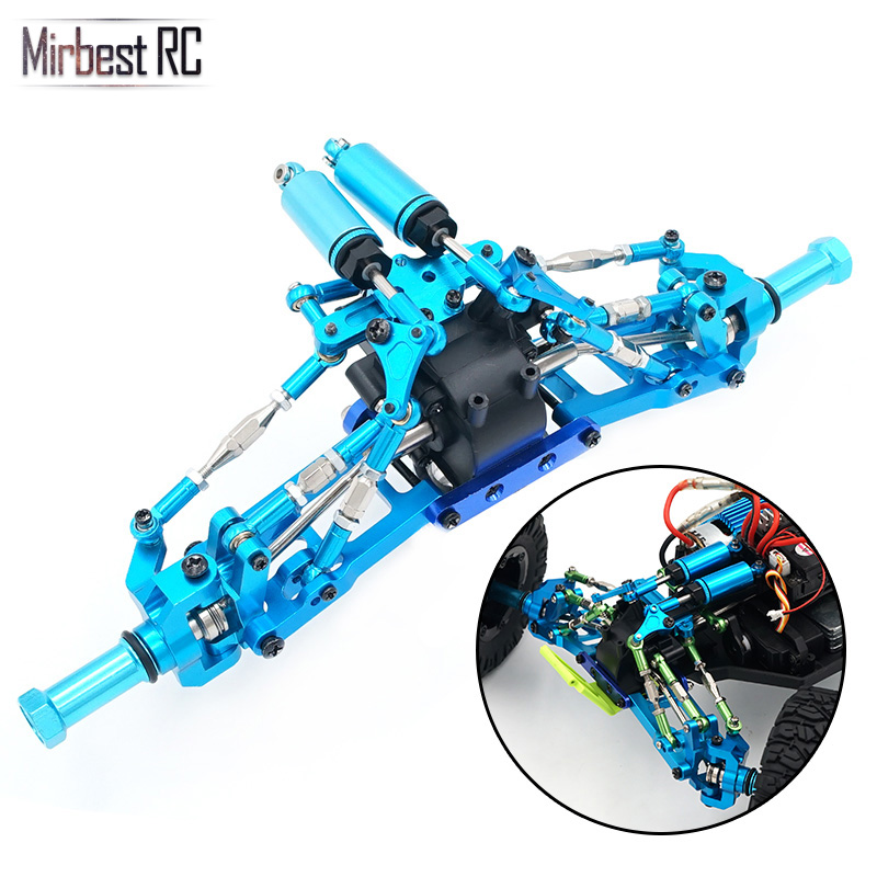 Mirbest RC DIY Parts For Wltoys 12428 Parts 12423 RC car Metal parts Upgrade accessories Metal gear wave box Shock absorption