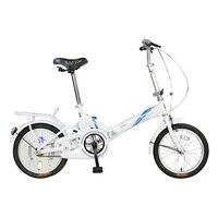 Складной велосипед для взрослых женские Сверхлегкий, портативный 20 дюймов из высокоуглеродистой стали Мини студент небольшой велосипед