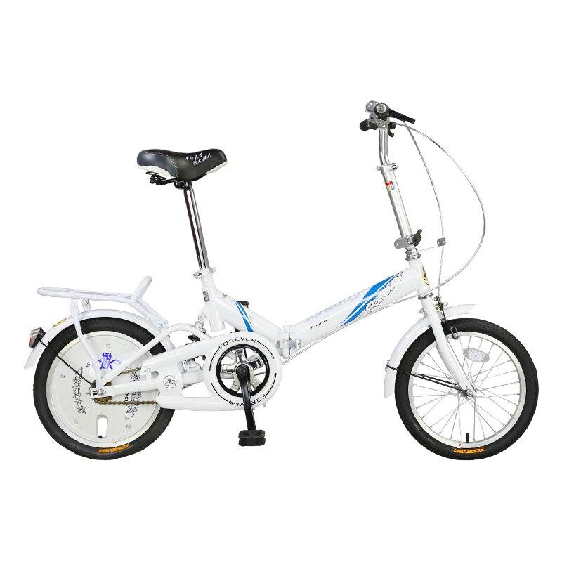 Vélo pliable femme adulte Ultra léger Portable 20 pouces en acier à haute teneur en carbone Mini étudiant petit