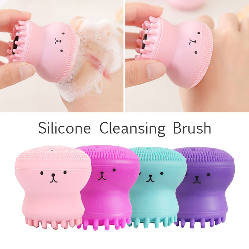 2019 Drop Shpping Sponge 4 Colors Face Cleaning Brush Fashion Major Face Cleaner Massage Beauty Skin For Clean
