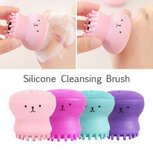 2019 Drop Shpping Sponge 4 Colors Face Cleaning Brush Fashion Major Cleaner Massage Beauty Skin for Clean