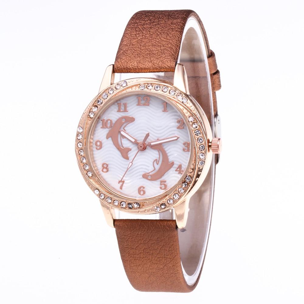 2018 Top Luxury Brand Rose Gold Dial Fashion Watch Women Quartz Thin Leather Strap Classic Simple Female Wristwatch Reloj Mujer