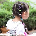 10 Pcs Elastic HairBand Fashion Girls Multicolor 2016 Girl Hair Accessories  Rope Scrunchie Ponytail Holder 10 Colors For Choice