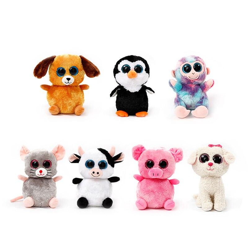 a209533337d Large 40CM Kawaii TY Beanie Boos Big Eyes Monkey Panda Cat Raccoon Penguin  Squirrel Plush Stuffed ...