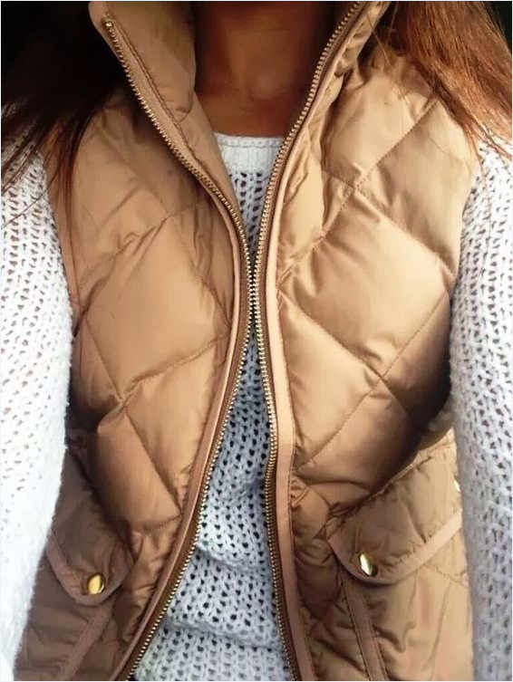 Le donne di arrivo Sottile cappotti Nuove Donne di Marca Giacca Senza Maniche di Inverno Della Maglia Femminile Della Maglia Sottile delle Donne Antivento Caldo Gilet