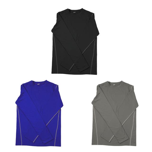 Top Fashionable Design 1021 Men Sport Training Long Sleeve Shirt With Velvet Quick Drying Tight Exercise Running Shirt For Male