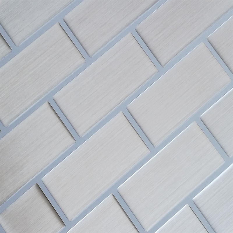 3D Stickers Peel and Stick Wall Kitchen Tiles Kitchen Backsplash Tile Silver Wire 10 Sheets