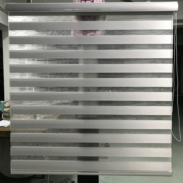 grey window blinds venetian zebra blinds custom size shade translucent double layer roller in light grey window curtains for