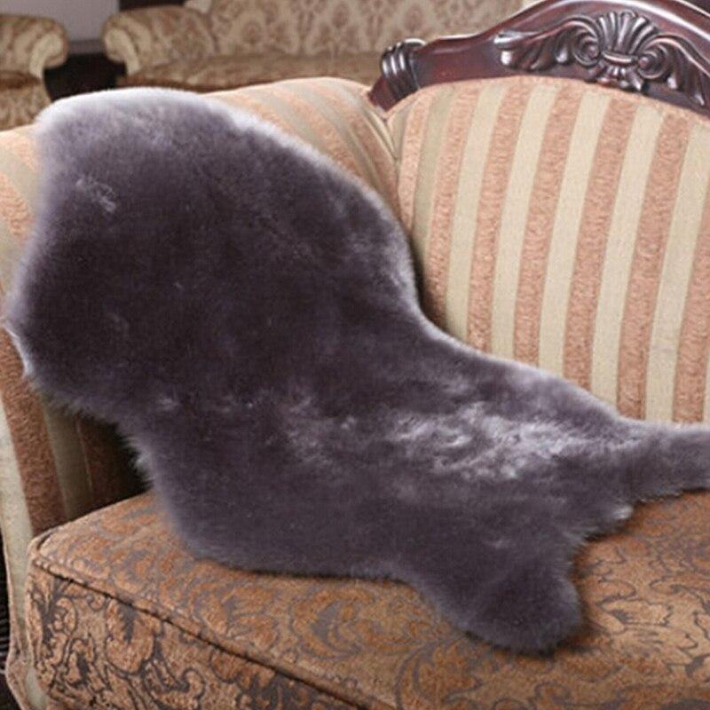 Шерстяные мягкие коврики для одеял и пледов, Подарочный коврик для декора, моющееся сиденье, плюшевый Меховой чехол для стула, роскошный, Прямая поставка - Цвет: grey