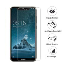 Protective Glass for nokia x5 Tempered Glass on Nokia 5.1 Plus X 5 screen protector Toughened 9H 0.26mm 2.5D film цена