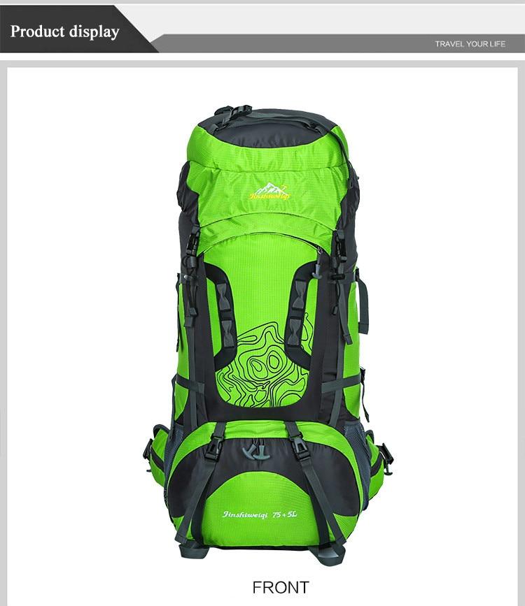 6b88588d614f HU WAI JIAN FENG Outdoor Hiking Backpacks 80L Waterproof Sports Bags Travel  Backpack Men Camping Hiking Bag Rucksack Outdoorer #767957