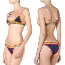 GI FPREVER Neoprene Bikini Set Sexy Women's Swimsuits Low Waist Patchwork Swimsuit Bathing Suit Maillot De Bain Female Swimwear