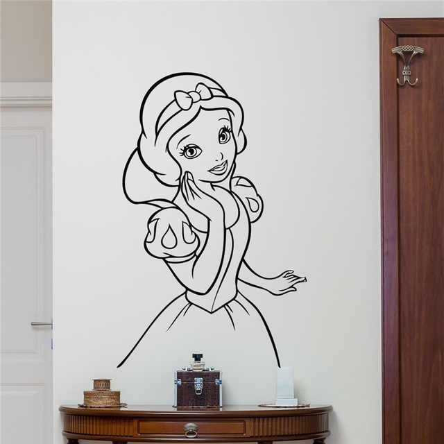 Snow White Wall Decal Cartoon Cute Girl Vinyl Sticker Living Teen Kids Room Wall Decor Cool Nursery Wall Sticker Stickers Living Wall Stickernursery Wall Stickers Aliexpress