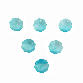 Free Shipping ,Lt Aquamarine 2000pcs/Lot  One Hole 14mm Crystal Glass Octagon Beads In One Hole Wholesale ,