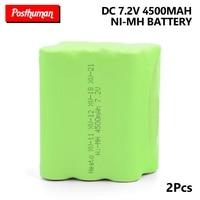 2PCS 7.2v nimh battery rechargable 4500mah Ni mh bateria for Neato XV 21 XV 11 XV 14 vacuum battery cleaner sweeping machine