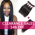 Brazillian Straight Hair Weave with Closure Brazilian Straight Virgin Hair 3 or 4 Bundles With Lace Closure Queen Hair Products