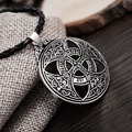 1pcs Vinkings Pendant Necklace Large Celttic Knot Love Pendant Viking Norse RUNE Pendant Necklace Wiccan Pagan Asatru Jewelry
